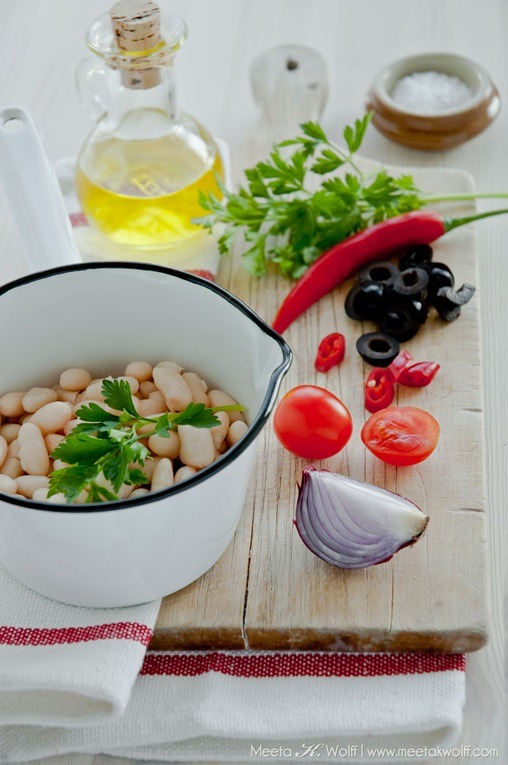 Cannellini Bean Salad with Olives and Ricotta (0092) by Meeta K. Wolff