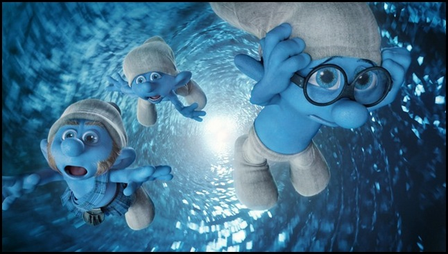 Gutsy, Clumsy and Brainy in Columbia Pictures' THE SMURFS.