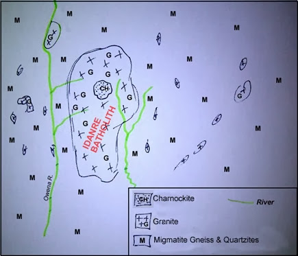 idanre geo map_olokuta rocks