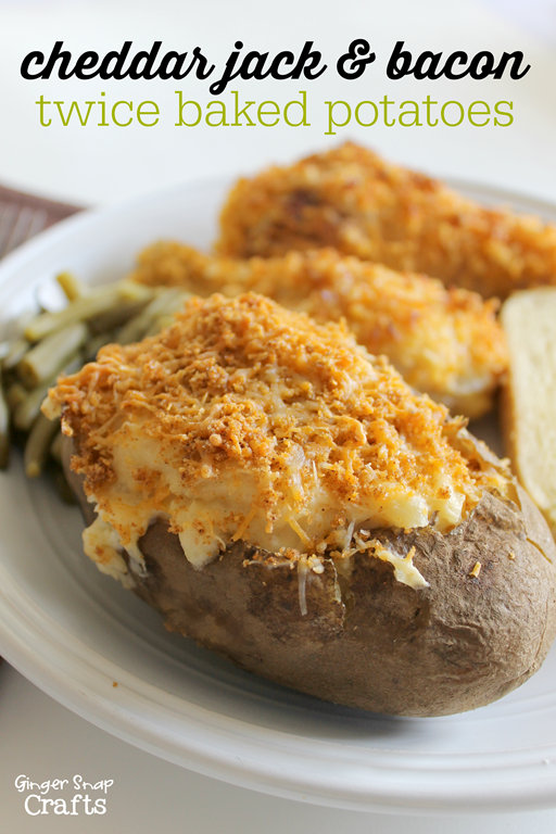 cheddar jack & bacon twice baked potatoes #freshtakes #collectivebias #shop