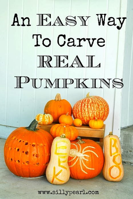 An Easy Way to Carve Real Pumpkins - The Silly Pearl #PumpkinMastersKit