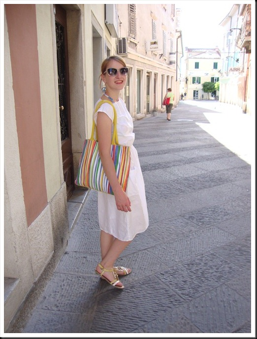 vintage white dress day