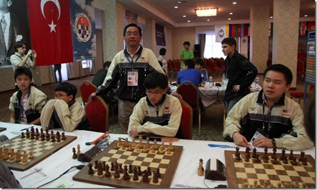 Malaysia Under 16 chess team