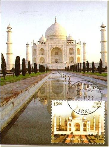 INDIA - TAJ MAHAL pOSTAL
