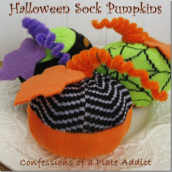 CONFESSIONS OF A PLATE ADDICT Halloween Sock Pumpkins
