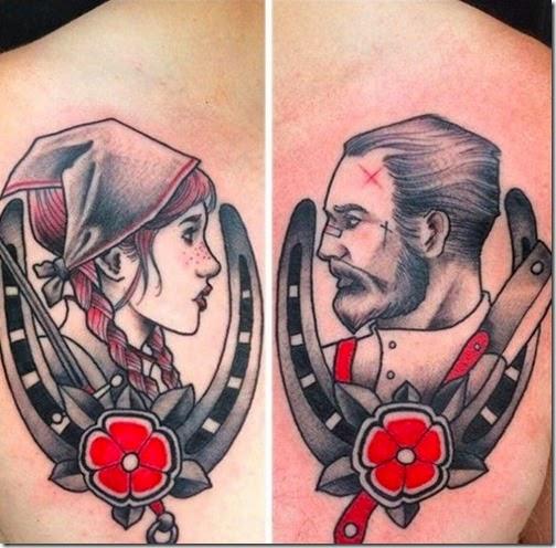 Tatuajes, tatuaje para parejas, tatuaje para novios, tatuajes para casados, tatuajes frikis, tatuajes geek