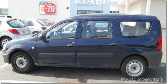 Frankrijk met de Dacia Logan MCV 02