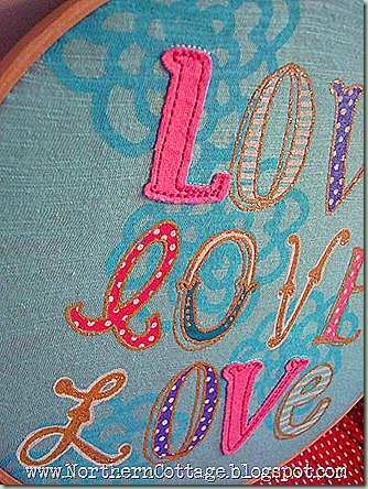 hoop art - aqua love close