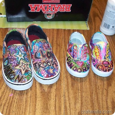 back to school painted shoes