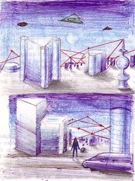 Orasul din viitor desene facute la 14 ani