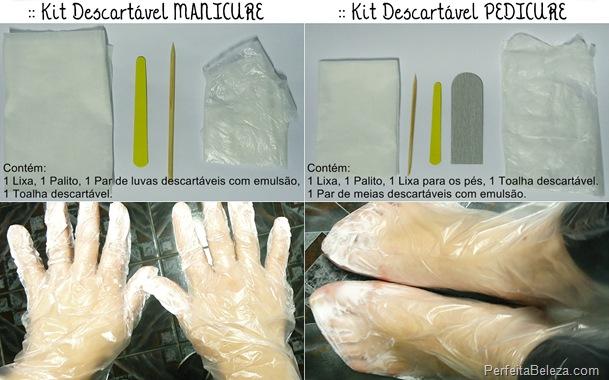 Kits Descartáveis para Manicure e Pedicure de uso profissional