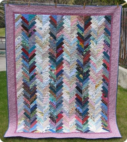 Prairie Braid scrap quilt
