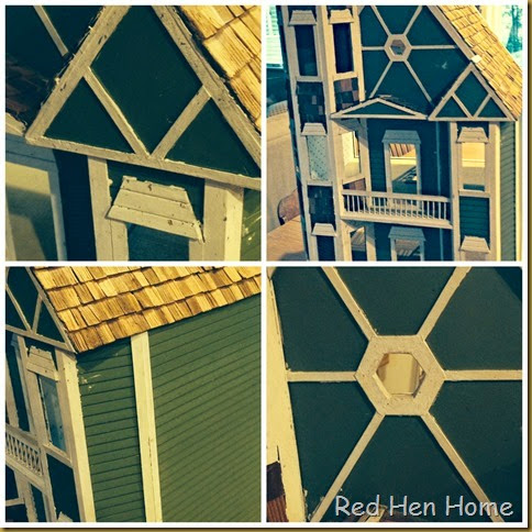 Red Hen Home dollhouse collage