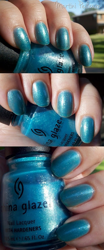 China Glaze Martini Pedicure - Throwback Thursday