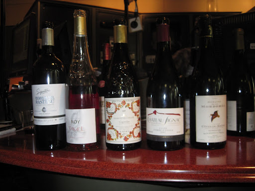 A selection of wines from the Rhone Valley courtesy of Christophe Tassan