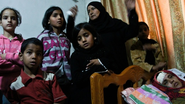 Palestinain Woman-struck-by-Israeli-shot