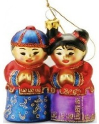 Chinese friends ornament
