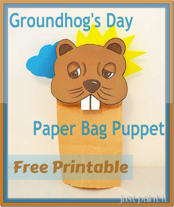 Groundhog's Day Puppet with Printable