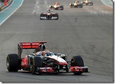 Hamilton vince il gran premio di Abu Dhabi 2011