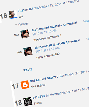 Numbering blogger threaded comments
