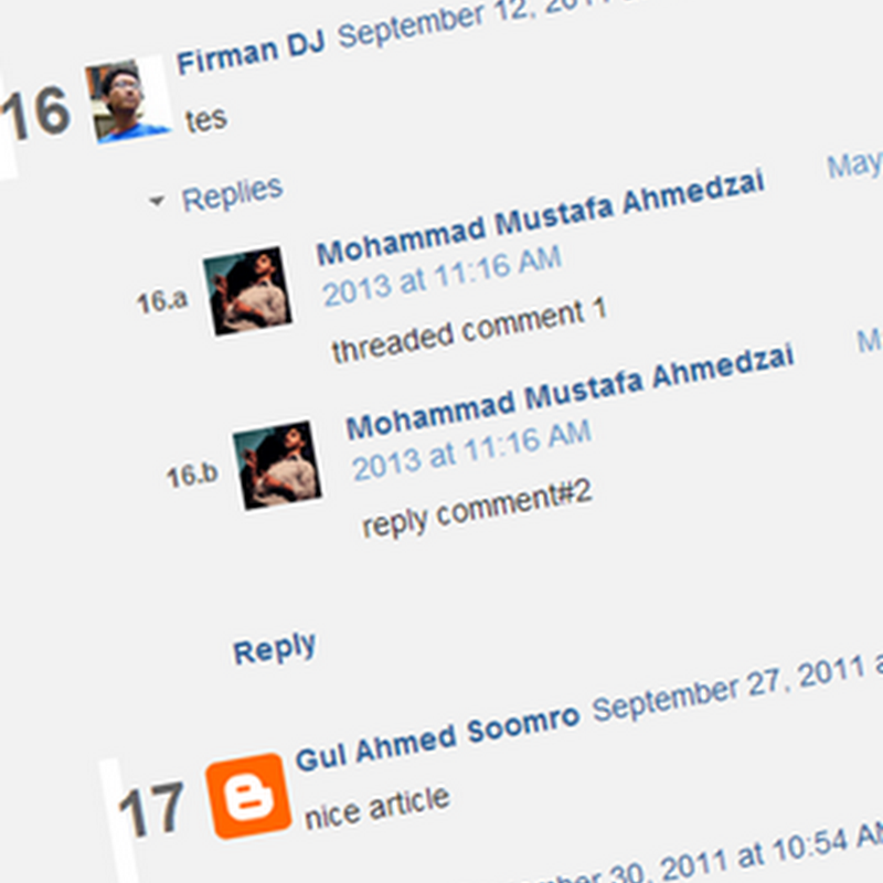 Automatic Numbering for Blogger Threaded Comments