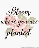 Just Us Four - Bloom Where You are Planted Free Printable