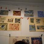 Une partie des correspondances sont exposées en haut à l'atelier ....