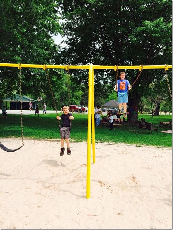Elijah Matthew swinging Cinderella Park 5 3 14