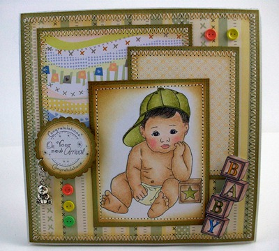 Baby Boy and Block Card