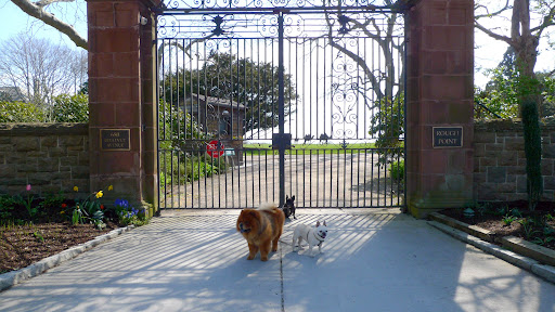 G.K., Sharkey, do you think we can get around this gate somehow?  I want to see more of this historic mansion called Rough Point!