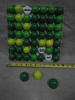 Multi-color green plastic wall calendar