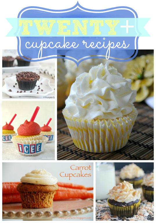 Twenty  Yummy Cupcake Recipes {round up at gingersnapcrafts.com}