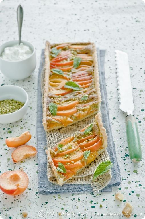 Apricot and Pistachio Frangipane Tart (0050) by Meeta K. Wolff