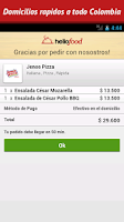 Screenshot of Hellofood Colombia