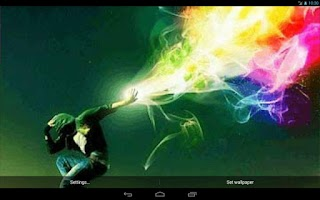 Screenshot of Colorful Jump Live Wallpaper