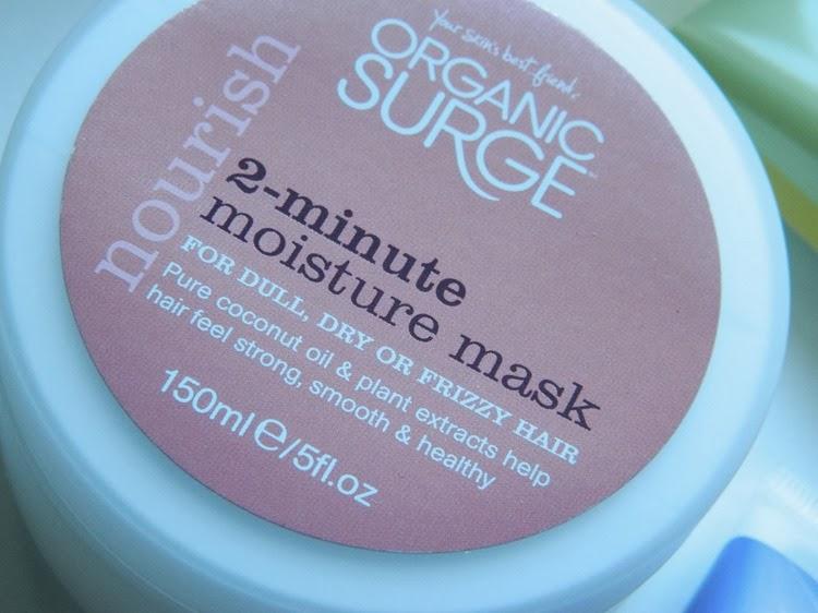 Organic Surge 2-Minute Moisture Mask for hair