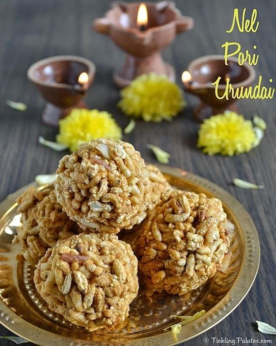 Karthigai Pori Urundai Recipe