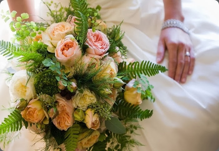 ferns northwest-bridal-bouquet-ferns-gardenroses flora nova seattle