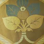 """Tkanina ozdobna typu """"adamaszek"""". Dwustronna. Na zasłony, poduszki, narzuty, dekoracje. Brązowa, złota, miedziana."""