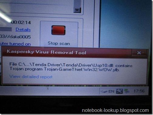 แก้ไวรัส lpk.dll ด้วย Kaspersky virus removal tools