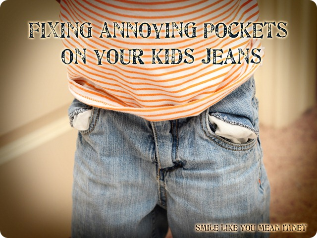 Fixing annoying pockets on kids jeans and shorts