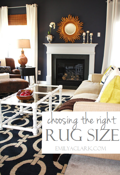 How To Choose The Right Rug Size Emily A Clark