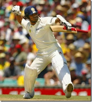 The clenched fist indicates what the knock means to Sachin Tendulkar