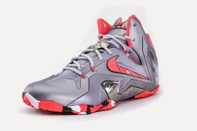 nike lebron 11 ps elite silver crimson camo 4 01 Release Reminder: Nike LeBron XI Elite Team Collection