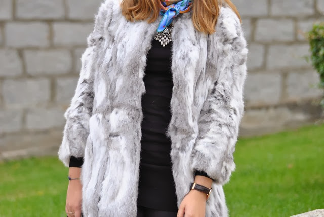 faux fur coat hermes