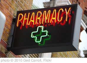 'Pharmacy sign in Soho' photo (c) 2010, Ged Carroll - license: http://creativecommons.org/licenses/by/2.0/