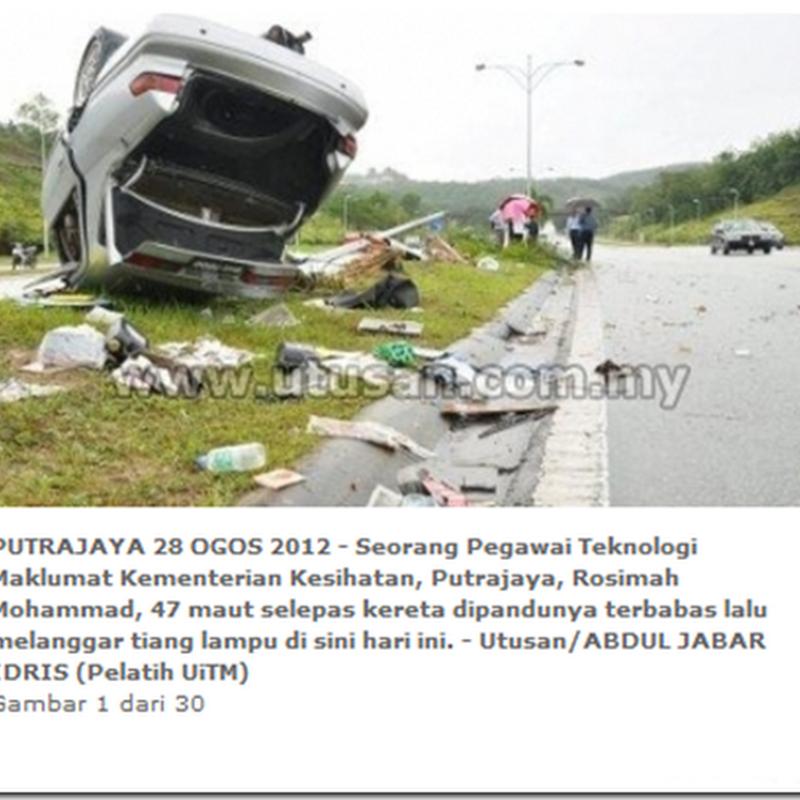 Lagi kemalangan di Putrajaya.