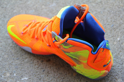 nike lebron 12 gr orange silver yellow 2 07 A Detailed Look at the Orange / Volt Nike LeBron 12 Nerf