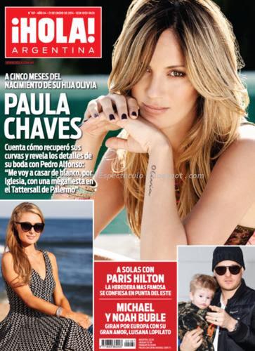 Paula chaves en revista hola argentina el for Revistas de chismes del espectaculo