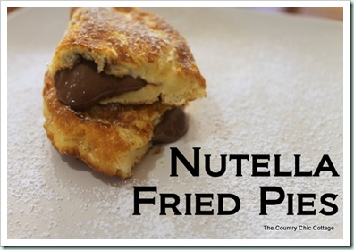 nutella fried pies